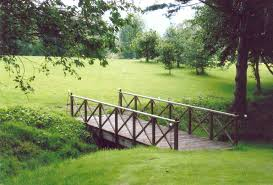 wooden bridge wooden garden bridge garden bridges uk