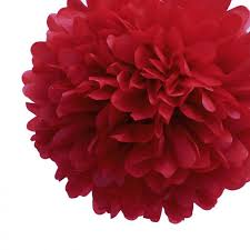 Tissue Paper Pom Poms Flower Balls Ez Fluff 12 Inch Red Tissue Paper Pom Poms Flowers Balls Decorations 4 Pack Fluffy Wall Backdrop Decorations On Sale Now Pom Pom Flowers