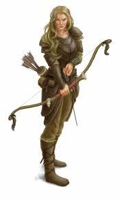 Ranger D D Download Free Png Drawn Elf Dnd Half Elf Female D D Ranger