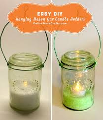 tutorial hanging mason jar candle holders dollar crafts glass jar candle holders