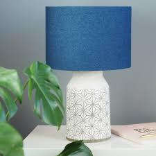 dark blue denim fabric lampshade