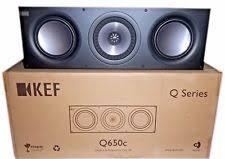 kef q200c. kef q650c center channel speaker - satin black ( 1 each) kef q200c e