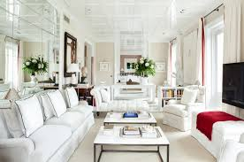 White living room furniture ideas in narrow living room