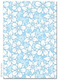 blue patterned sheets. Beautiful Blue A4 Patterned Card  Flowers Blue And White 1 Sheet For Sheets E