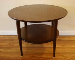 two levels round dark brown furnished wood high side coffee table round two levels furnished brown teak wood side coffee table round brown antique coffee