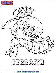Skylanders Spyros Adventure Earth Terrafin Coloring Page H M