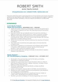 Equity Analyst Resume Samples Qwikresume