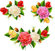 colored pictures of flowers. Modren Pictures Colored Flowers With Dewdrop Vector To Colored Pictures Of Flowers A