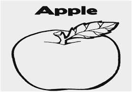 Apple Printable Coloring Pages Cute Apple Template Printable Trials