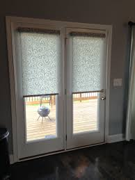 patio door venetian blinds sliding glass doors with window and treatments for in living room french