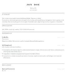 Free Resume Creator Elegant Builder Word Download Lovely Formats In