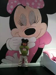 Pink Minnie Mouse Bedroom Decor Minnie Mouse Mural Makes Small Rooms Bigger Wall Murals