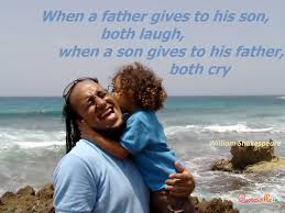 Dad Quotes From Son Mesmerizing When A Father Gives To His Son Both Laugh When A Son Gives To His