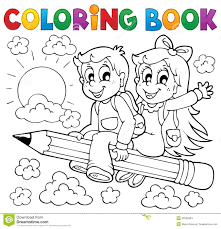 coloring book p theme 3 stock vector ilration of graphic looking 32526904