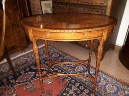 antique english oval inlaid coffee