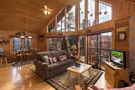 Log Cabin Living Room Mesmerizing R R Hideaway A Pigeon Forge Cabin Rental