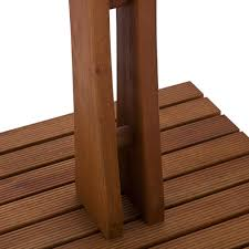 towel rack holder poolside spa outdoor 4rung wood beach patio organizer