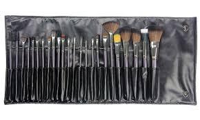 beaute basics gunmetal pro makeup brush set 24 piece