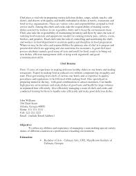 Cover Letter Examples Chef Resume Tomyumtumweb Com