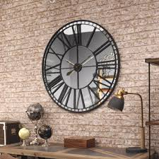 skillful design mirror wall clock new trends oversized skeleton