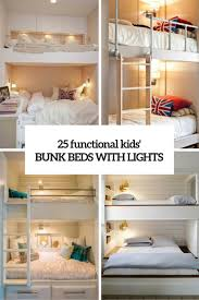 25 functional and stylish kids bunk beds with lights bunk bed lighting ideas