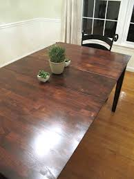 rustic dining table diy. dining room table strip and stain rustic diy l