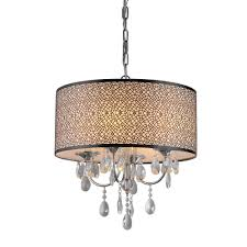 warehouse of tiffany chandelier. Warehouse Of Tiffany Lush 3-Light Chrome Chandelier With Shade RL13224
