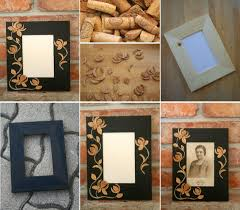 DIY Cork Flower Picture Frame DIY Projects