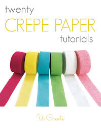 many tutorials using inexpensive crepe paper it s not just for decorating at parties anymore