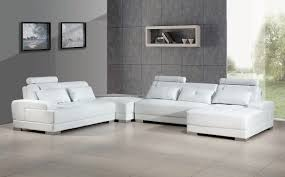 your bookmark products phantom contemporary white leather sectional