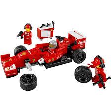 A driver, team truck driver and 4 team crew members. Lego Speed Champions F14 T Scuderia Ferrari Truck 884 Piece Building Set 75913 Walmart Com Walmart Com