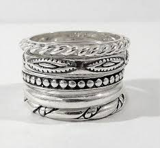 Silpada Sterling Silver Stack Stackable Rings Size 7 Htf