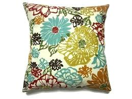olive green pillows. Green And Blue Pillow Decorative Cover Multicolored Red Orange Turquoise Pumpkin Brown Olive Gold . Pillows