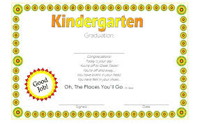 kindergarten graduation certificate template 3 office templates microsoft free gift