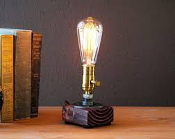 etsy industrial lighting. Etsy Industrial Lighting. Edison Lamp-rustic Decor-unique Table Lamp-industrial Lighting
