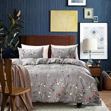 luxury home duvet cover set microfiber fabric twin queen king simple style indigo duvet covers hotel hospital bedding set canada 2019 from toohome