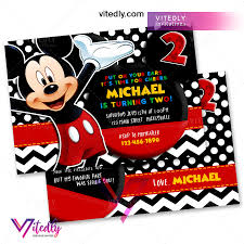 Mickey Mouse Birthday Invitations – Vitedly