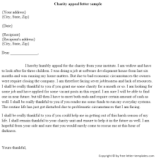 Charity Appeal Letter Template