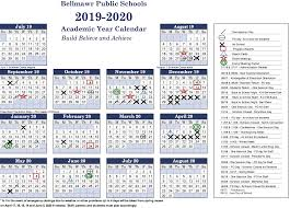 2019 2020 Calendar Bellmawr Public School District