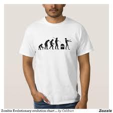 Zombie Evolutionary Evolution Chart Funny Science T Shirt