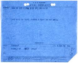 versailles to pearl harbor history hub naval dispatch from the commander in chief pacific cincpac announcing the ese attack on