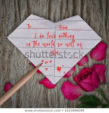 Paper Flower Quotes Love Quotes Origami Paper White Heart Stock Photo Edit Now