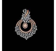 rose gold with diamond pendant