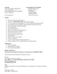 Tourist Visa Covering Letter Format New Sample Cover For Application