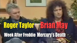 Roger Taylor & Brian May Interview One Week After Freddie Mercury ...
