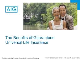 1 the benefits of guaranteed universal life insurance policies issued by american general life insurance company this presentation is not for use in