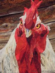 Quilt Inspiration: June 2014 & Close up, Cock of the Walk by David Taylor Adamdwight.com