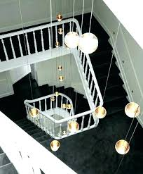 long hanging lights staircase pendant lighting stairway led home crystal ball new light