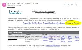 Spam Account How To Use Uc San Diego Spam Quarantine
