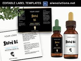 Package Label Template New Beard Balm And Beard Oil Label Template Man Product Label Etsy